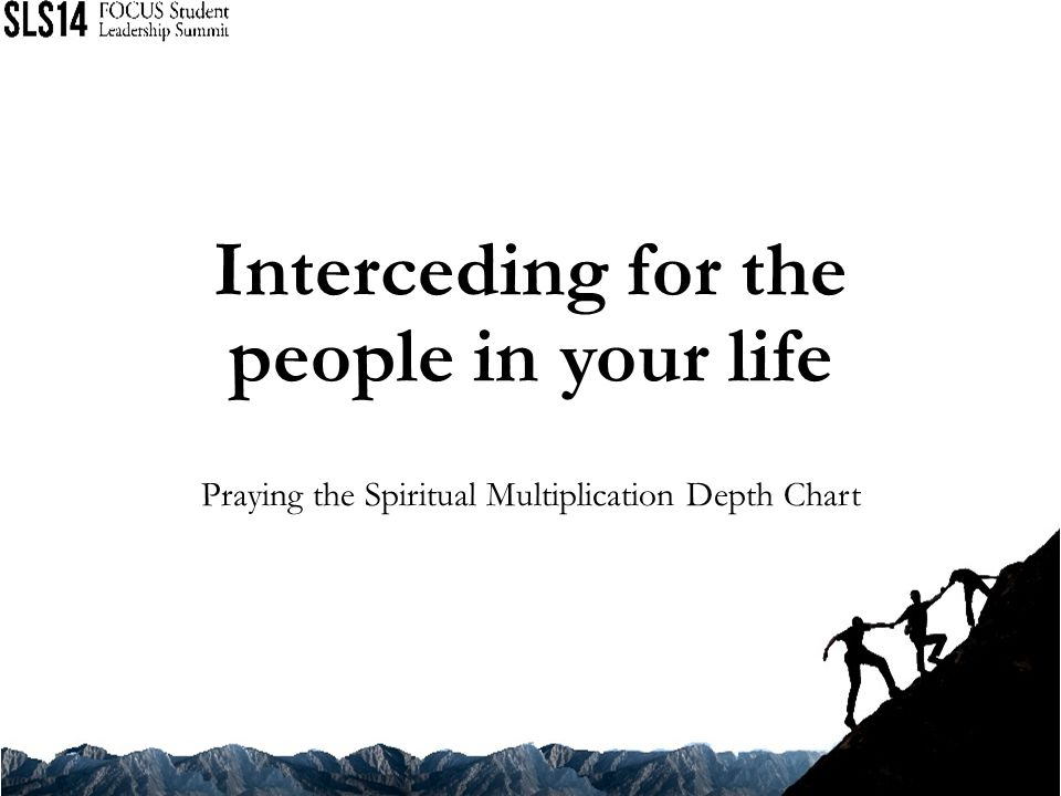 Interceding for the people in your life