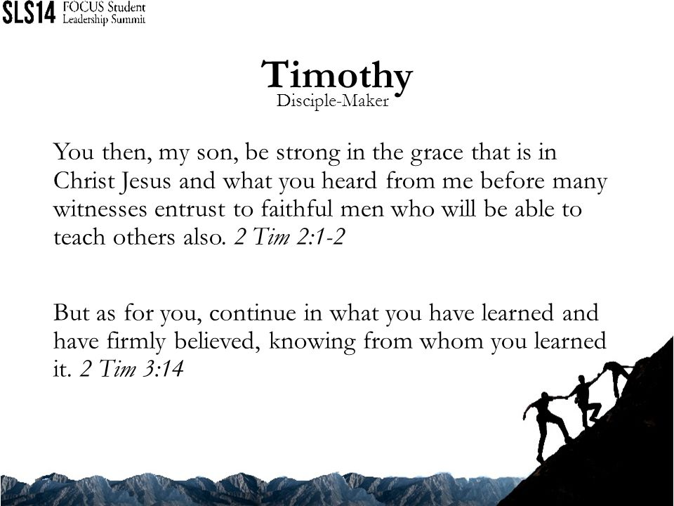 Timothy Disciple-Maker.