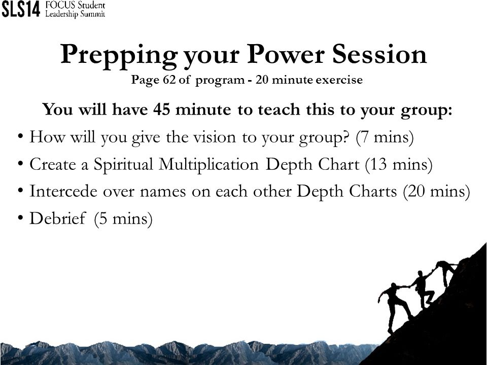Prepping your Power Session