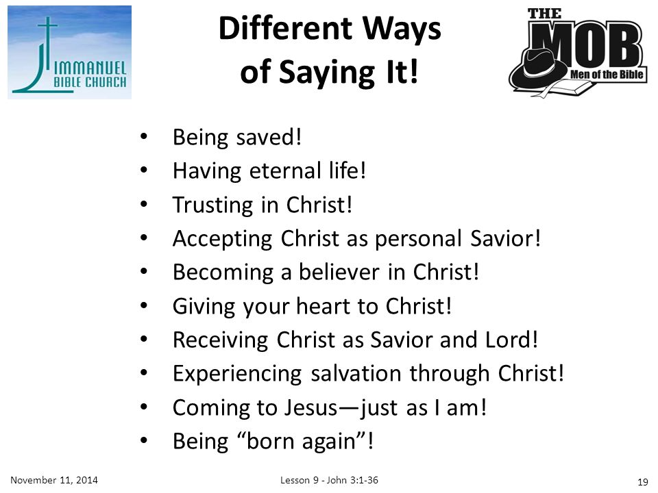 Different Ways of Saying It!
