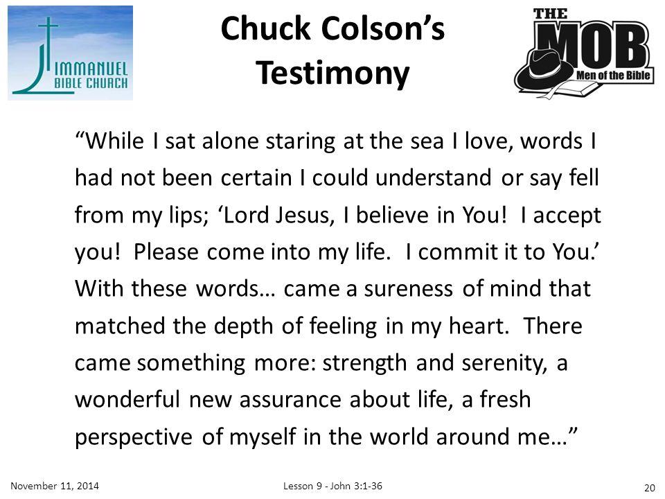 Chuck Colson's Testimony