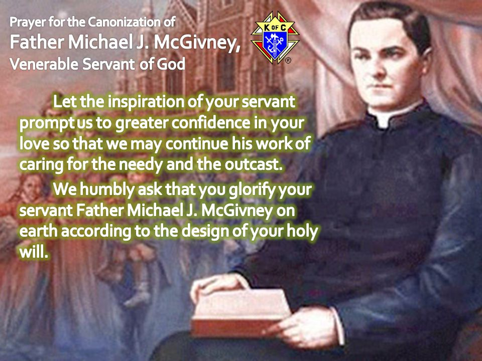 Prayer for the Canonization of Father Michael J