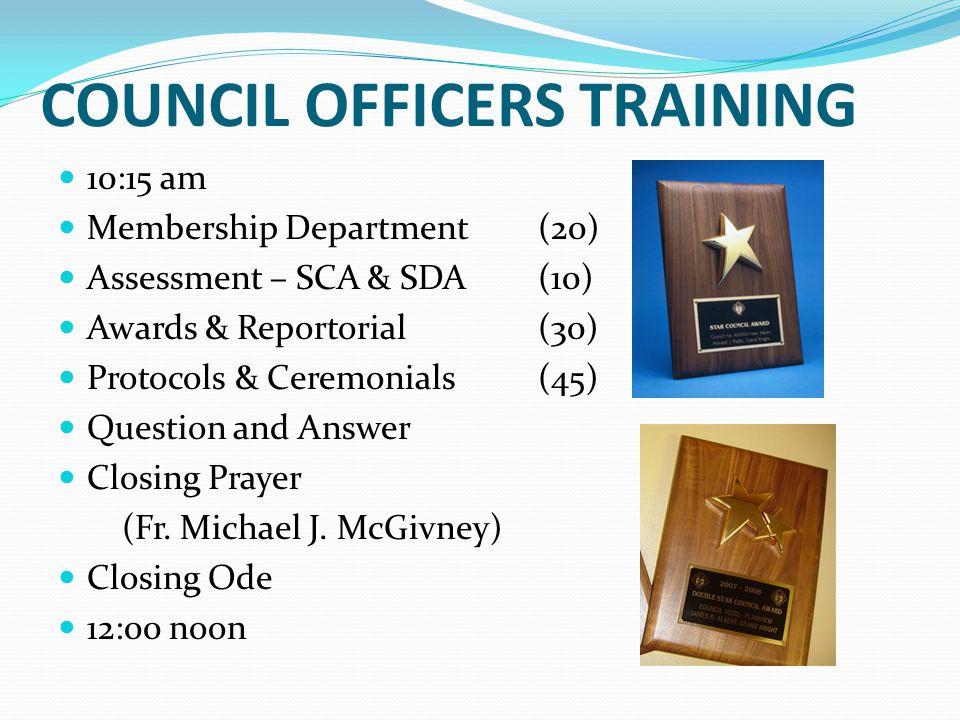 COUNCIL OFFICERS TRAINING