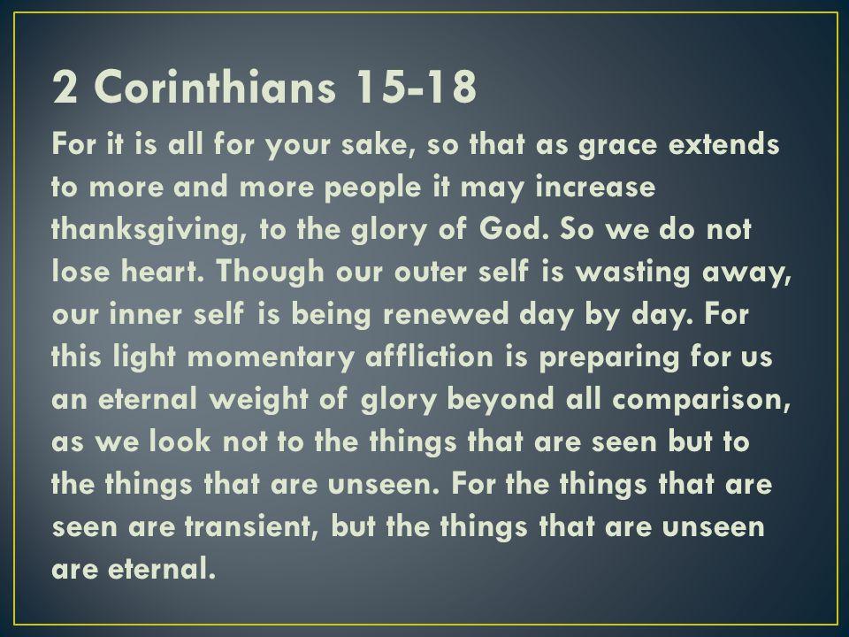 2 Corinthians 15-18