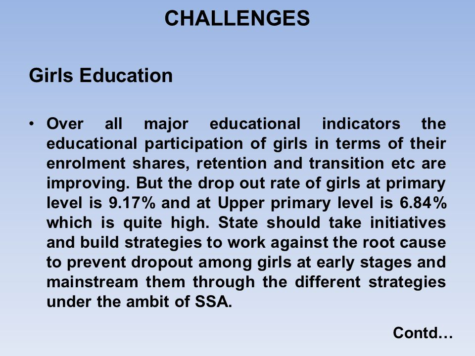 CHALLENGES Girls Education