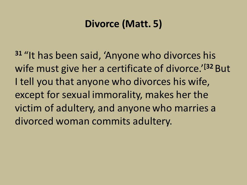 Divorce (Matt.