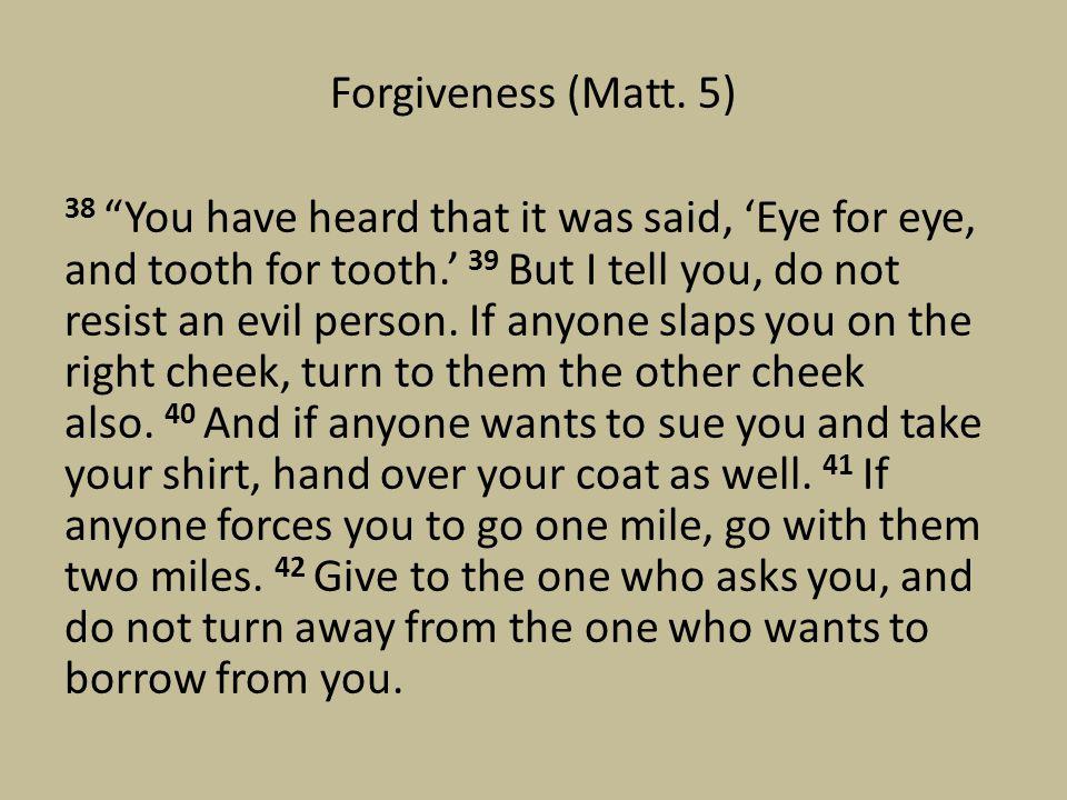 Forgiveness (Matt.