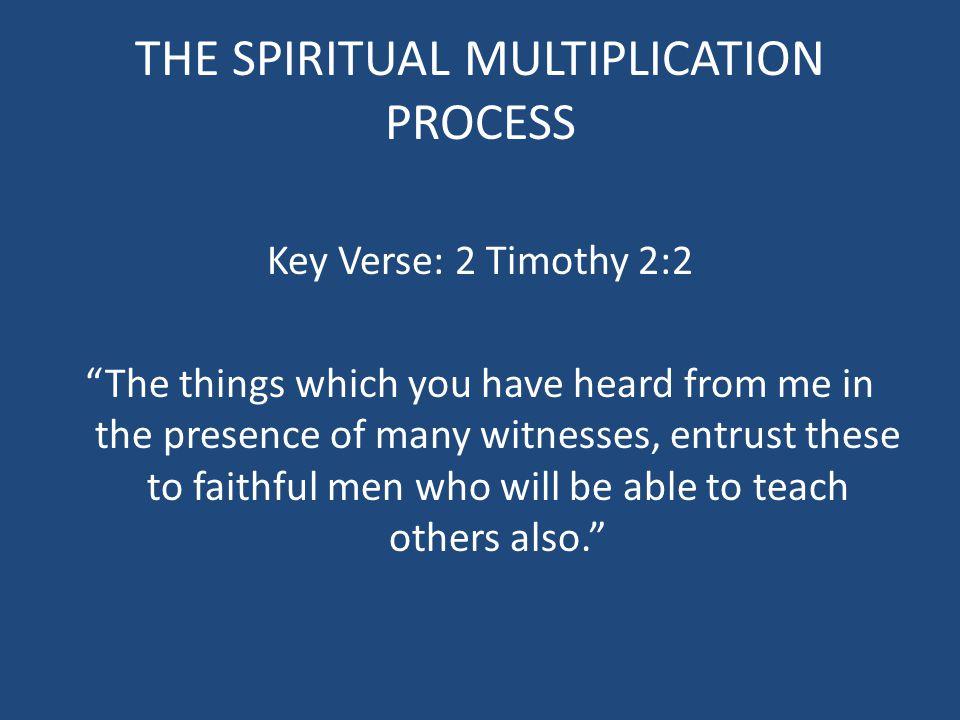 THE SPIRITUAL MULTIPLICATION PROCESS