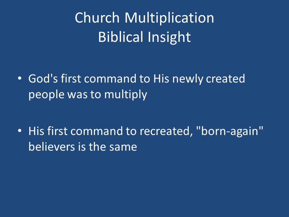 Church Multiplication Biblical Insight