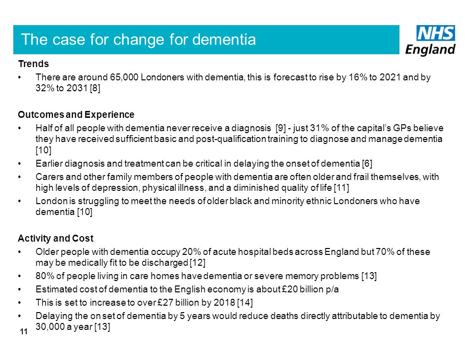 The case for change for dementia