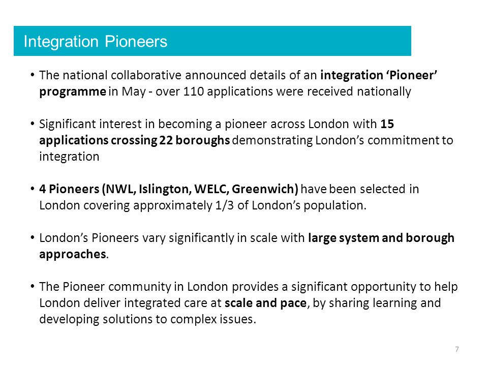 Integration Pioneers