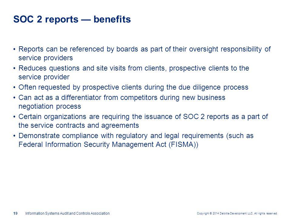 Components of a SOC 2 report