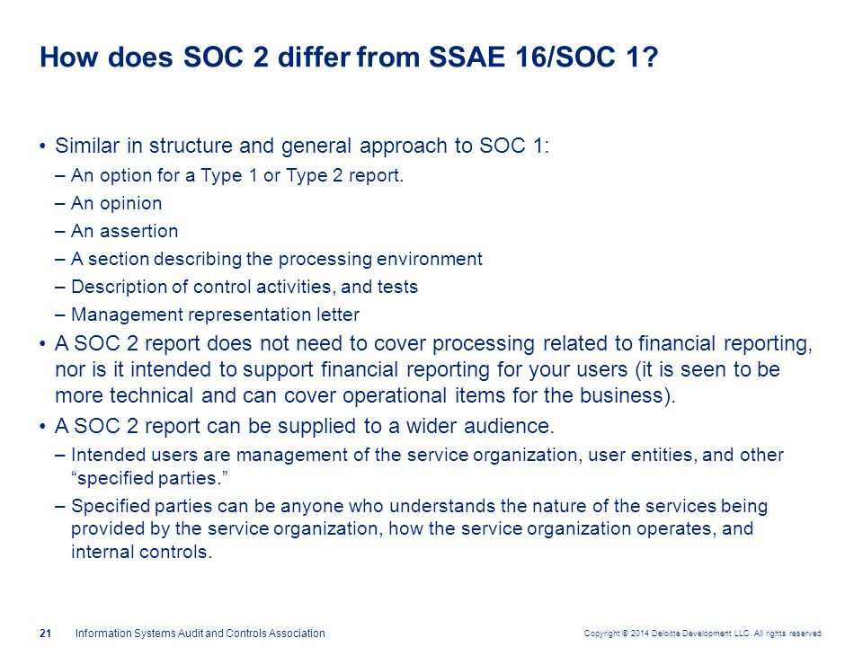 Is SOC 2 the right report for your purpose