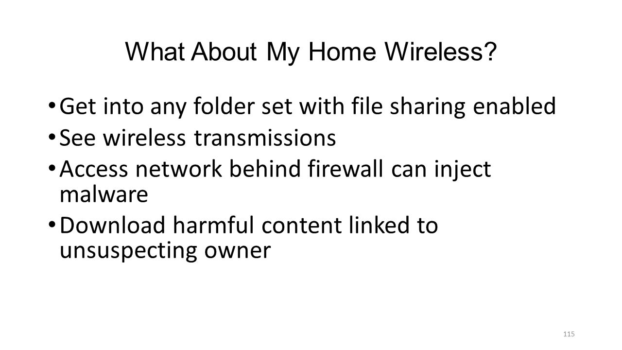 What About My Home Wireless
