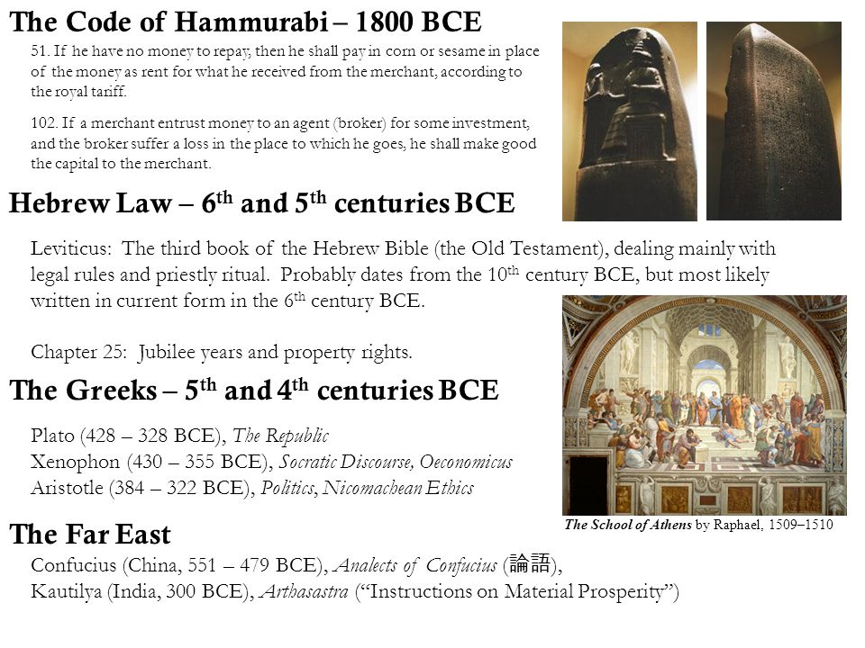 The Code of Hammurabi – 1800 BCE