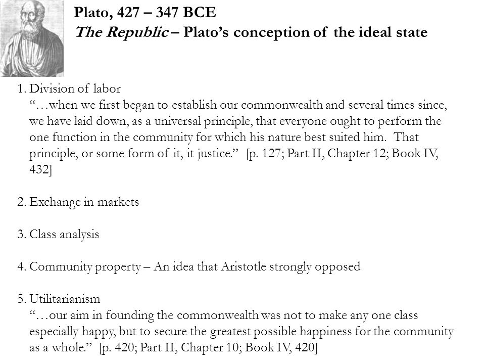 The Republic – Plato's conception of the ideal state