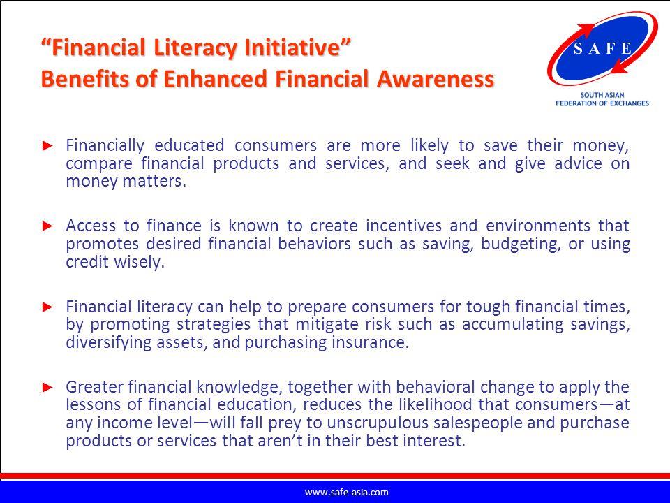 Financial Literacy Initiative Benefits of Enhanced Financial Awareness