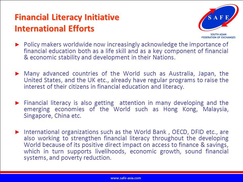 Financial Literacy Initiative International Efforts