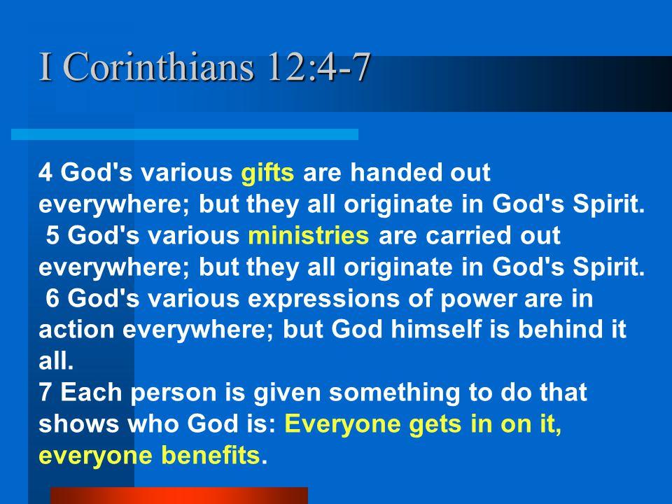 I Corinthians 12:4-7