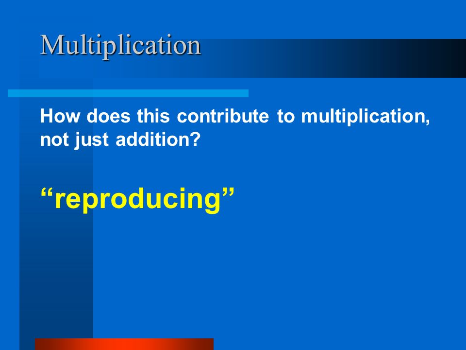 Multiplication reproducing