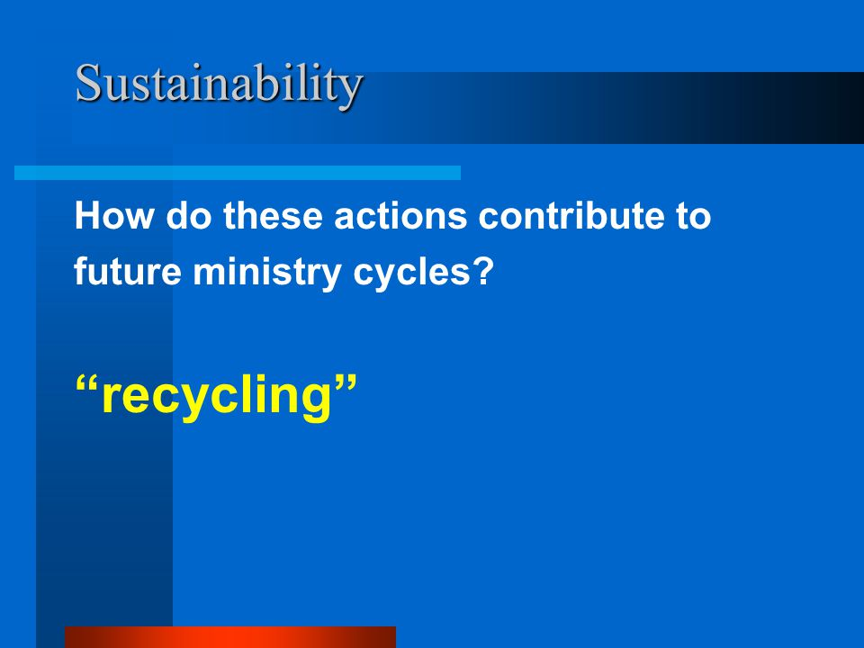 Sustainability recycling How do these actions contribute to