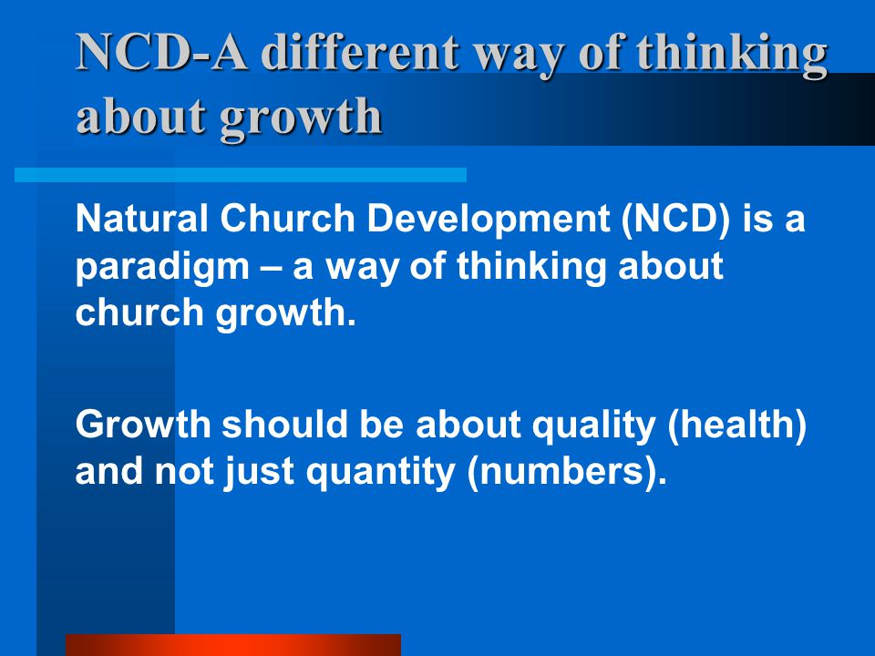 NCD-A different way of thinking about growth