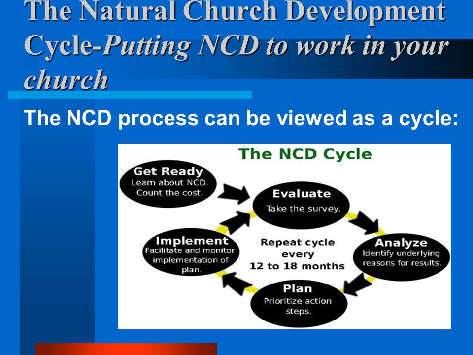 The Natural Church Development Cycle-Putting NCD to work in your church