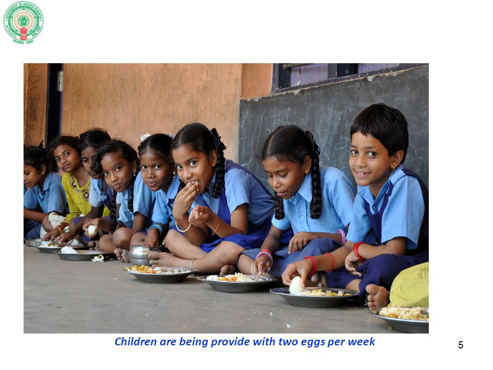 Children are being provide with two eggs per week