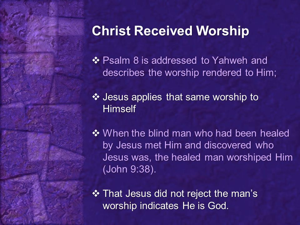 Christ Received Worship