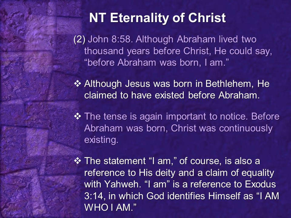 NT Eternality of Christ