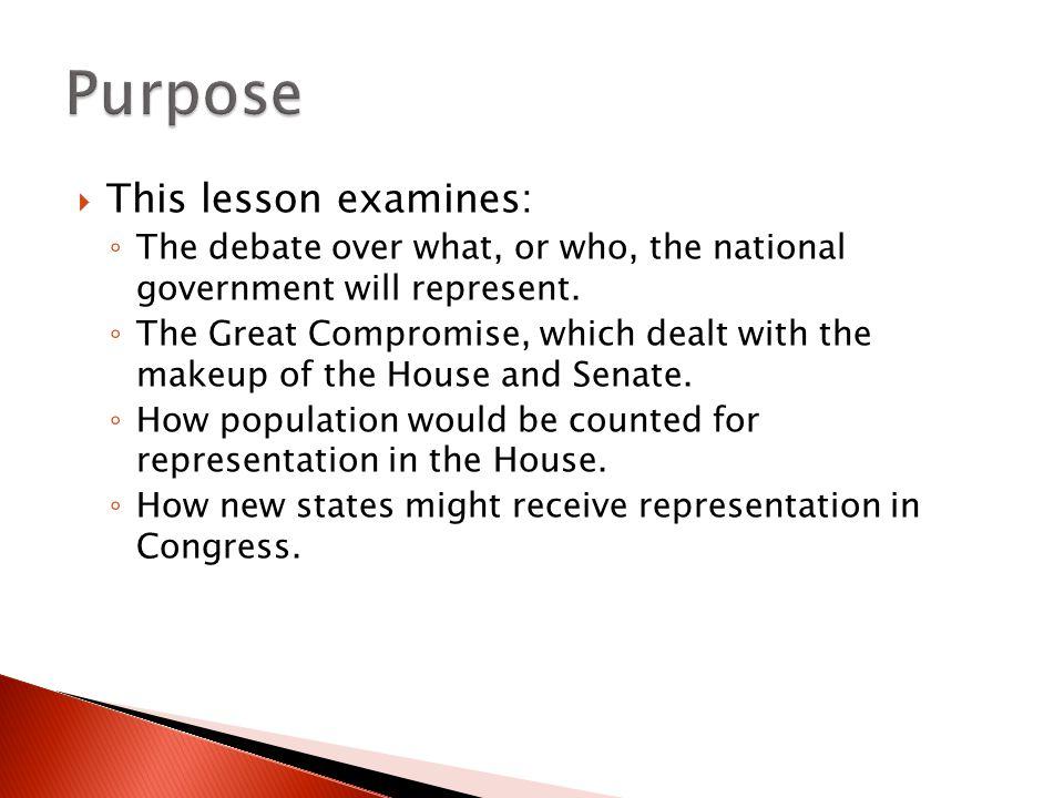 Purpose This lesson examines: