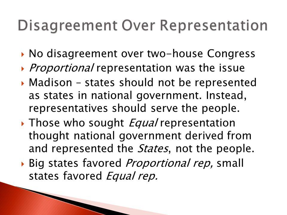 Disagreement Over Representation