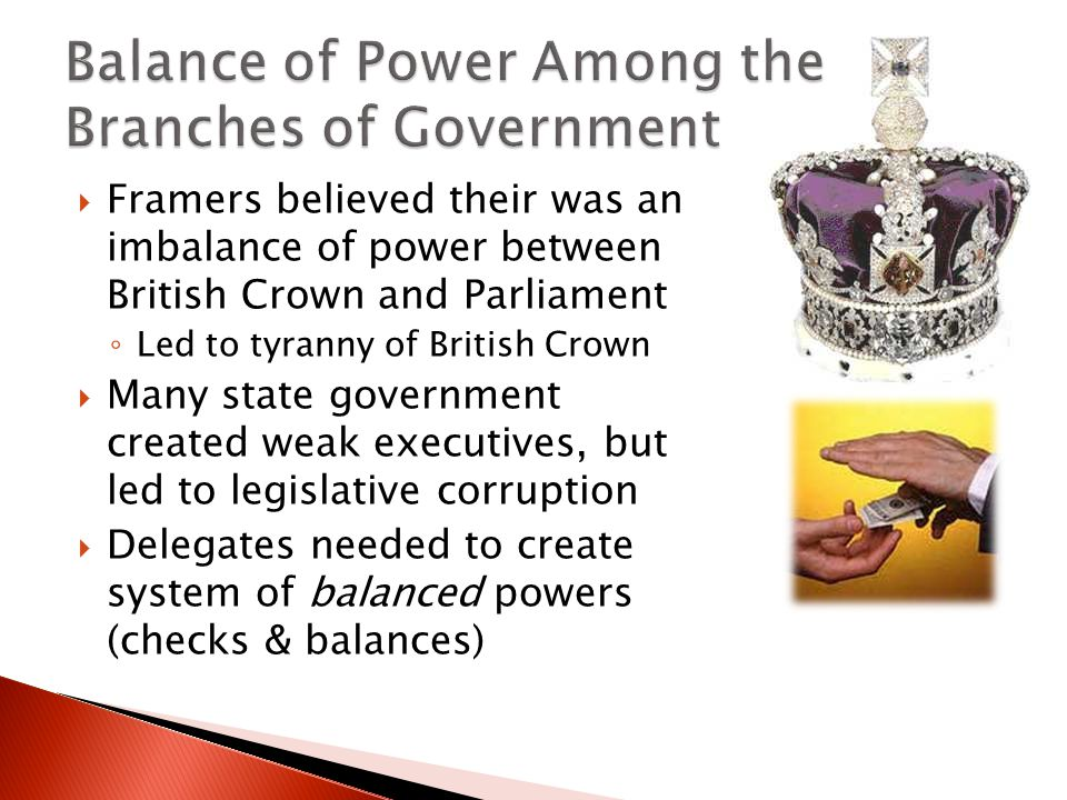 Balance of Power Among the Branches of Government