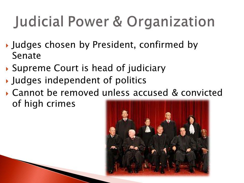 Judicial Power & Organization