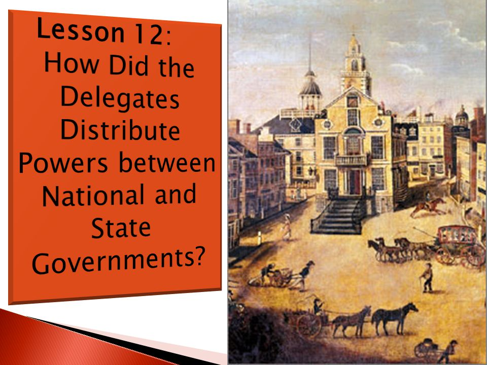Lesson 12: How Did the Delegates Distribute Powers between National and State Governments