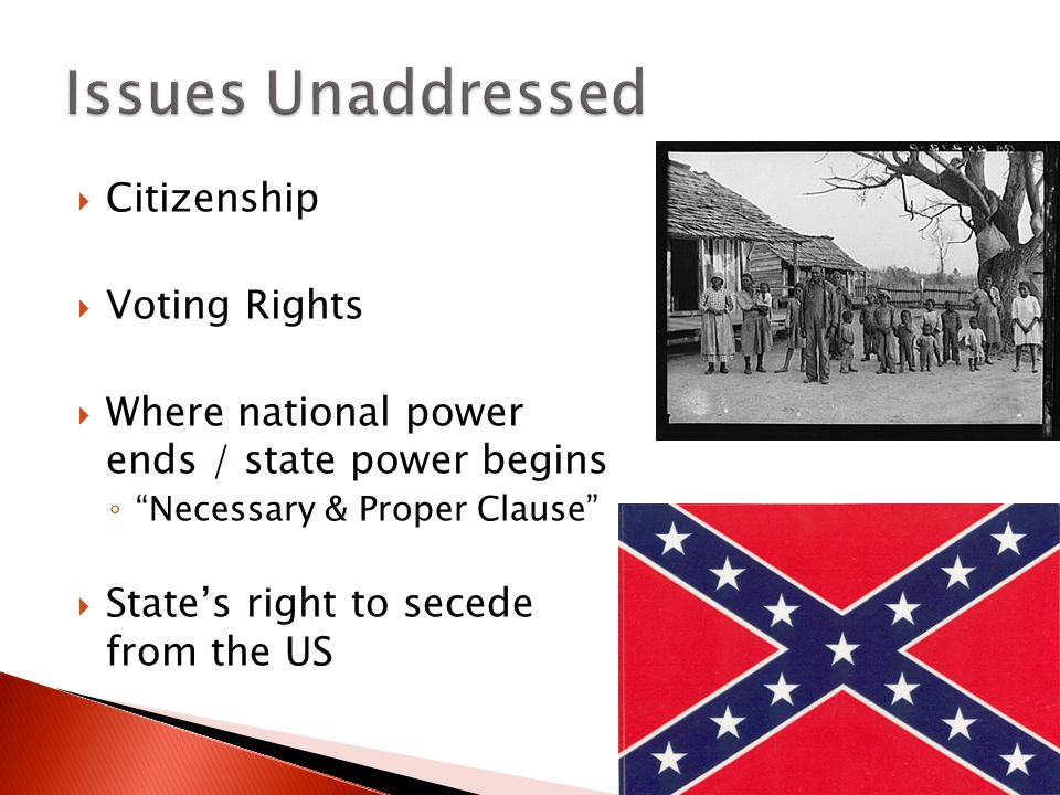 Issues Unaddressed Citizenship Voting Rights