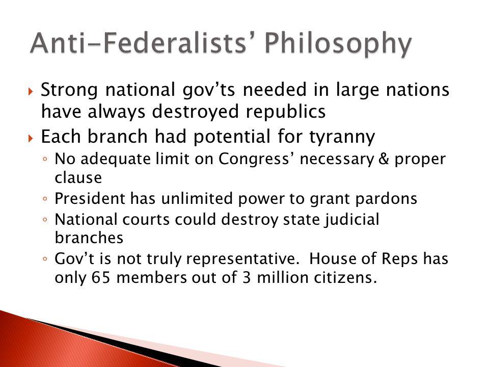 Anti-Federalists' Philosophy