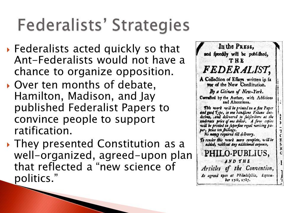 Federalists' Strategies