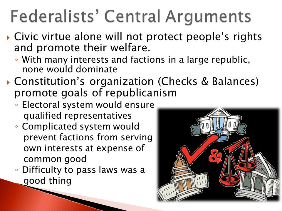 Federalists' Central Arguments