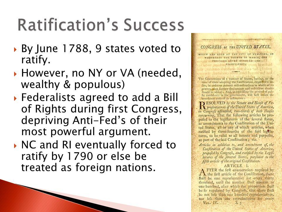 Ratification's Success