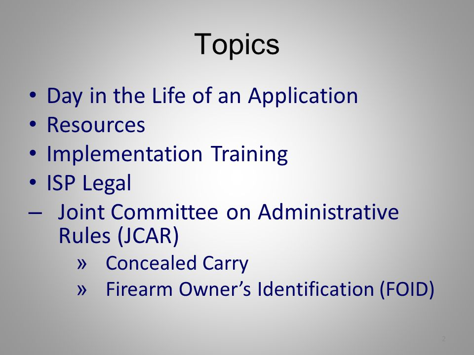 Topics Day in the Life of an Application Resources