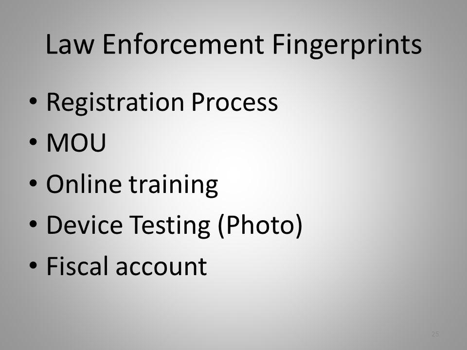Law Enforcement Fingerprints