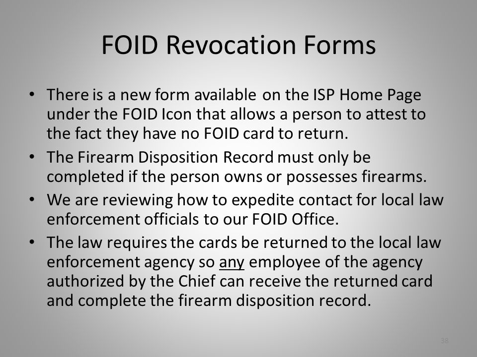 FOID Revocation Forms