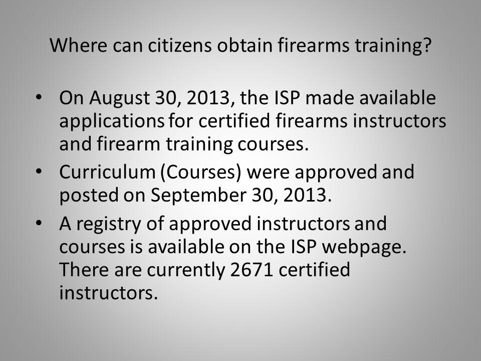 Where can citizens obtain firearms training