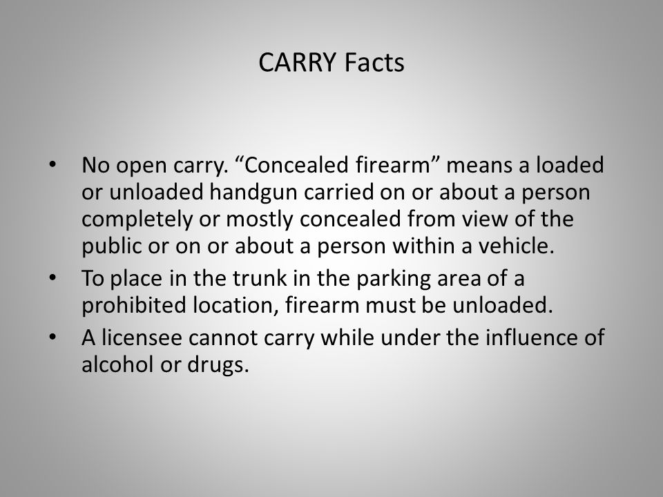 CARRY Facts