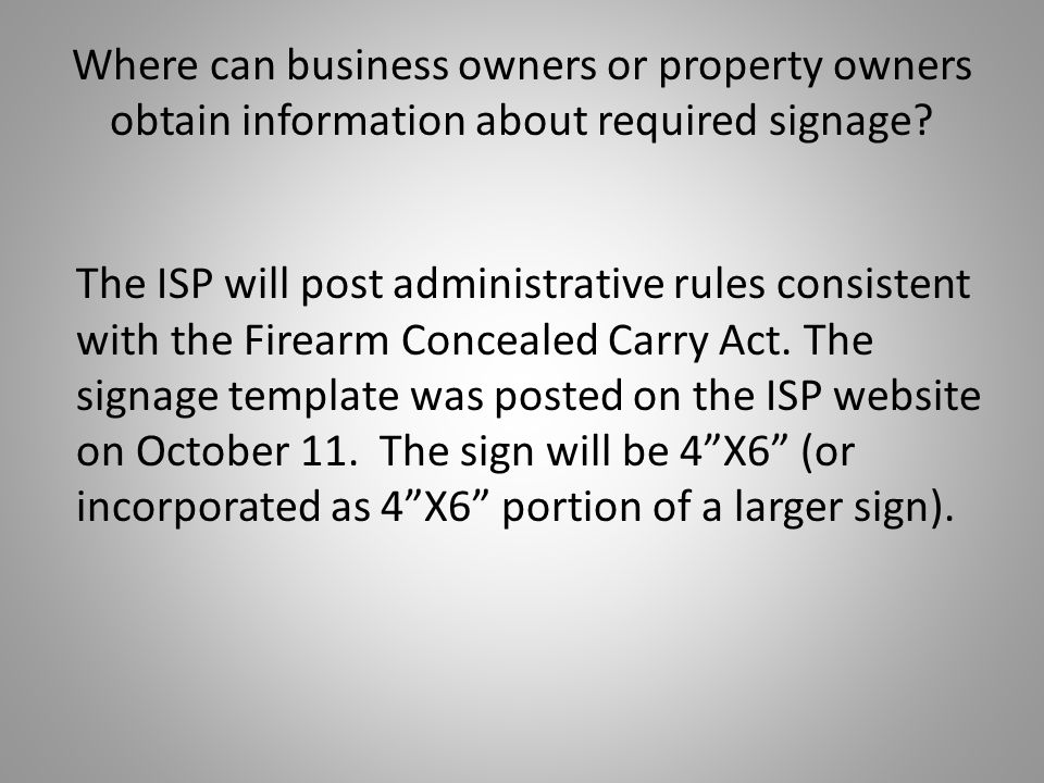 Where can business owners or property owners obtain information about required signage