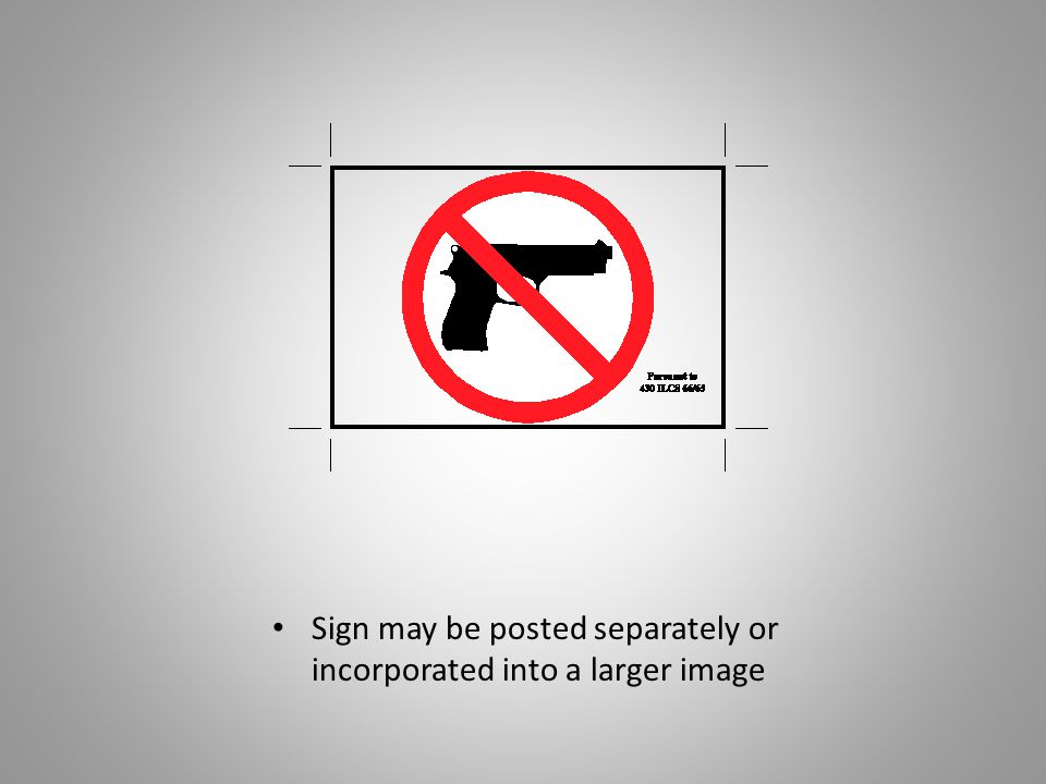 Sign may be posted separately or incorporated into a larger image