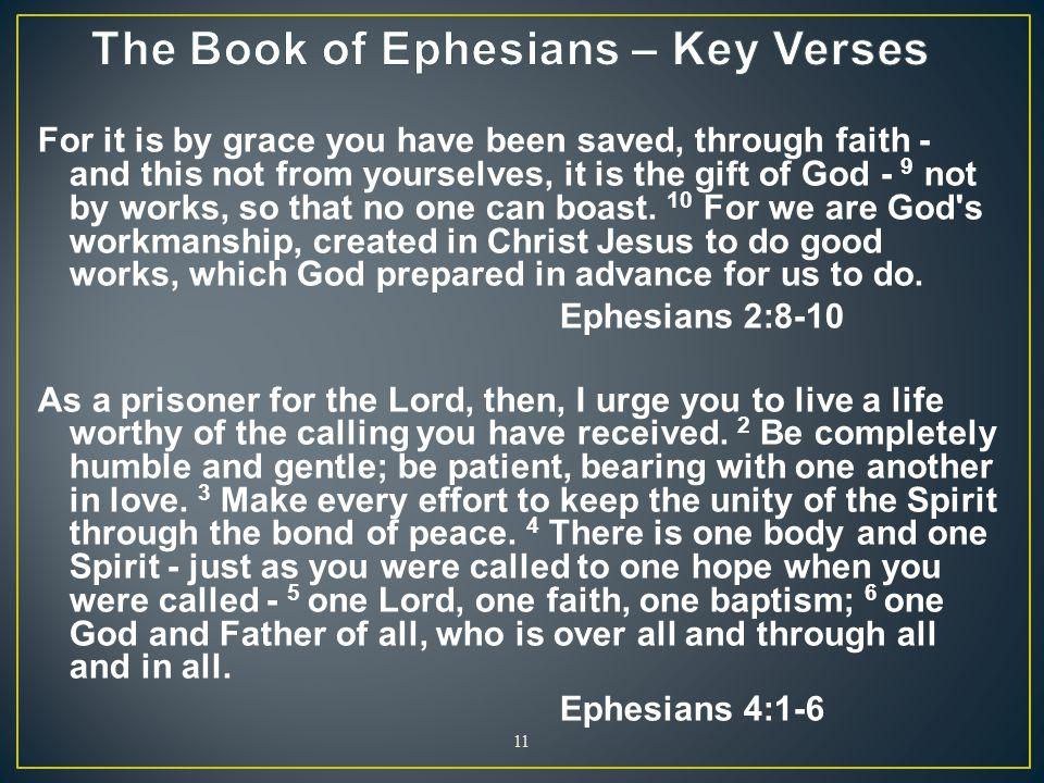 The Book of Ephesians – Key Verses