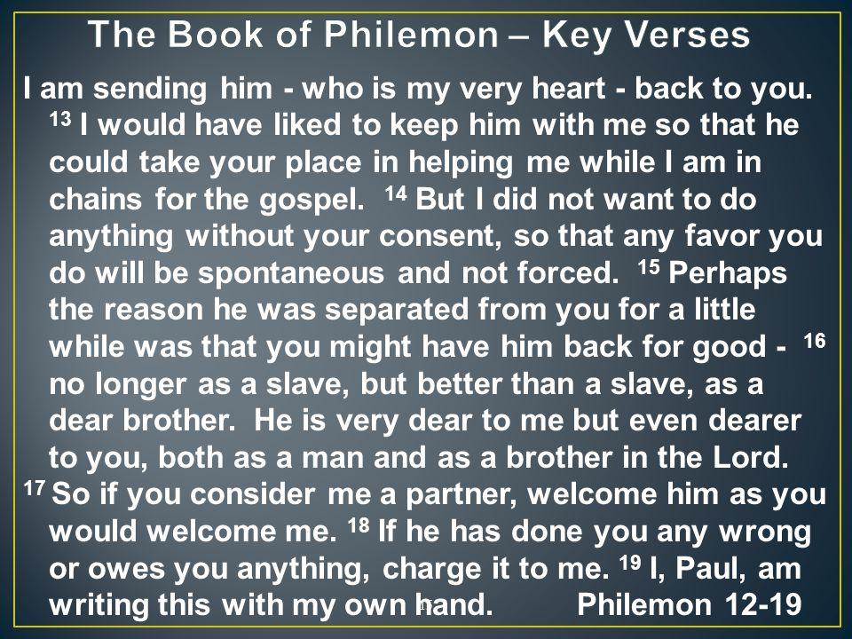 The Book of Philemon – Key Verses