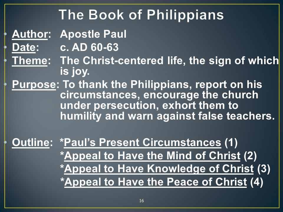The Book of Philippians